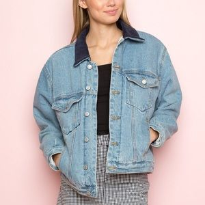 Brandy Melville Sherpa denim jacket